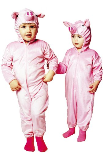 Pink Piggy PJs - Infant Costume - 1