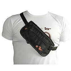 Strap Around Body Bags for Biking/Outdoors/Sports (Black)