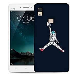 Snoogg Astronaut Playing With Ball Designer Protective Back Case Cover For VIVIO V3 MAX