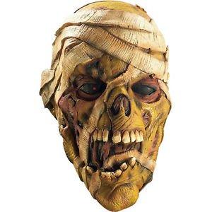 [Evil Mummy 3/4 Vinyl Adult Costume Mask Corpse Rubies 3454] (Jack Torrance Costume)