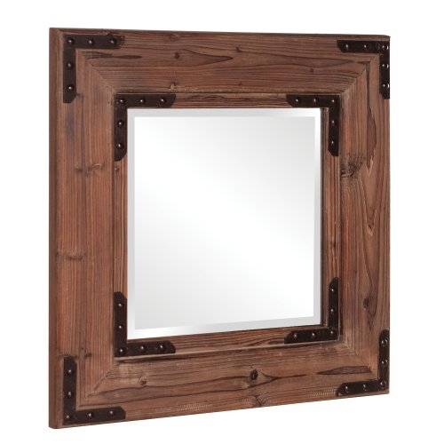 Howard Elliott Collection 37069 Caldwell Square Mirror, 28-Inch By 28-Inch, Natural Wood front-784853