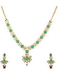 Mehek Design Multi-Color Metal Chain Necklace Set For Women (VD127)