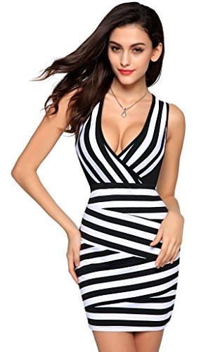 joour-vestito-donna-black-white-xxl