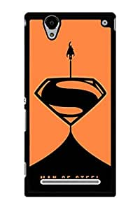Caseque The Man Of Steel Superman O Back Shell Case Cover For Sony Xperia T2