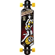 Sector 9 Natasha Complete Skateboard, Black, 9.75-Inch x 40.0-Inch