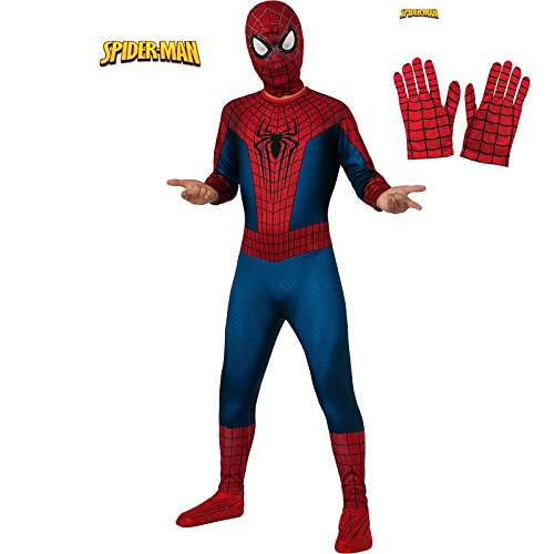 Amazing Spider-Man 2 Premium Costume Kit for Kids with Gloves - Medium