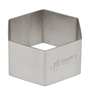 Ateco Stainless Steel Hexagon Form, 2.3- by 1.4-inches