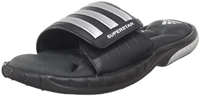 adidas Men's Superstar 3G Slide Sandal,Black/Metallic Silver/Solid Grey,7 D US