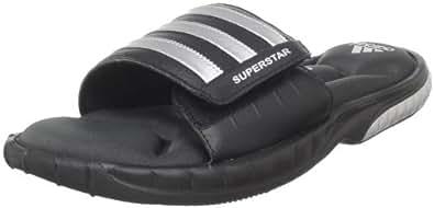 adidas Performance Men's Superstar 3G Slide Sandal,Black/Metallic Silver/Solid Grey,5 D US
