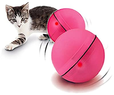 YOGADOG Interactive Cat Toys, Electronic Auto Motion LED Ball Pet Toy