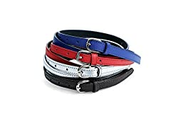 Contra Women's Belt Combo of 4 Pc Set (KBH-B132_Navy, Red, Silver, Brown_Small)