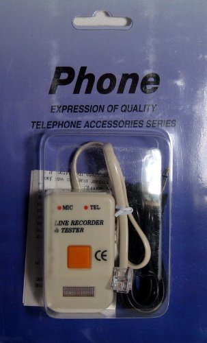 Phone Line Recorder Telephone Record Voice Spy Monitor