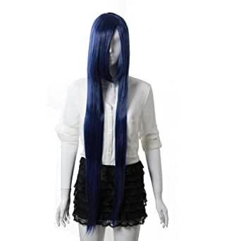 TqmarketMAYSU Naruto Hinata Hyuga Long Straight Cosplay wig Costume Party wig-cs02