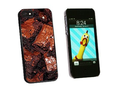 Chocolate Brownies - Snap On Hard Protective Case for Apple iPhone 5 5S - Black