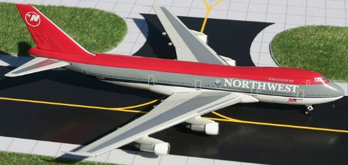 1: 400 ジェミニジェット Northwest 航空 ボーイング 747-200 1990s Red Top Colors (並行輸入)