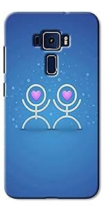 DigiPrints Designer Back Cover for Asus Zenfone 3 ZE552KL-Multicolor