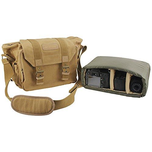BESTEK 一眼レフカメラバッグ クッションボックス 付き 大切なレンズを保護に キャンバス素材・帆布生地 防水仕様 カメラ・レンズ保護用 ソフトインナーケース おしゃれ ショルダー バッグ iPad入り可 男女兼用 アウトドア撮影の絶品! DSLR Camera Shoulder Backpack Bag BTDB01