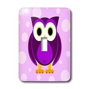 LLC lsp_13757_1 linda del búho púrpura en luz violeta Fondo - un