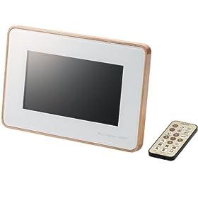 ELECOM デジタルフォトフレーム TREERT(トリート) 7インチワイド 解像度800×480 ホワイト DPF-X7WT10LW