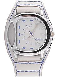 GIVME Sporty Look Full White Analog White Dial Men's Watch - Men's_16