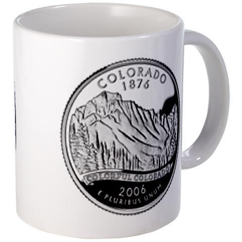 COLORADO CO State Quarter Proof Mint Image 11oz Ceramic Coffee Cup Mug (Co State Quarter compare prices)