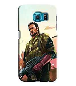 Omnam Man In War With Gun Printed Designer Back Cover Case For Samsung Galaxy S7 Edge
