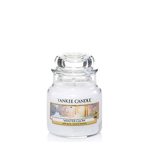 Yankee candle 1342539E Winter Glow Candele in giara piccola, Vetro, Bianco, 6.5x6.2x8.1 cm