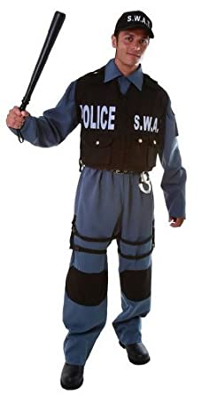 Dress Up America Adult S.W.A.T., Multi-Colored, Small