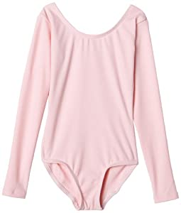 Capezio Little Girls' Long Team Basics Sleeve Leotard,Pink,T (2-4)