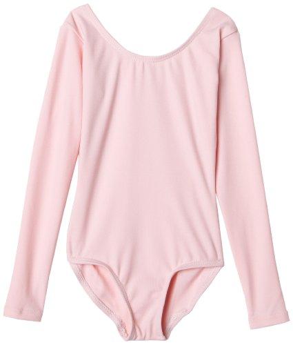Capezio Little Girls' Long Sleeve Leotard,Pink,S (4-6) front-1009208