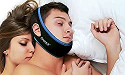 SnoreXTM Anti Snore Sleep Chin Strap - Your #1 Snore Relief Guard - Jaw Strap Snore Solutions Device - The Sleep Aid That Is Rated Most Comfortable And Easy To Wear
