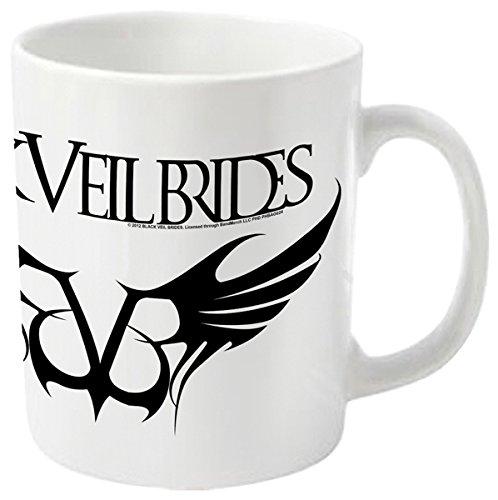 Plastic Head - Tazza con logo dei Black Veil Brides Rebels Logo, bianco