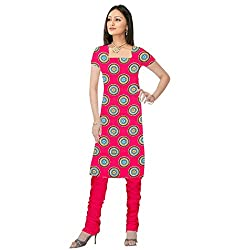 Shopeezo Magenta Colored Poly Cotton Printed Dress Material