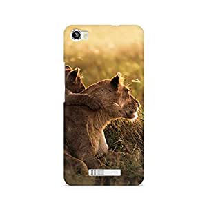 Mobicture Hungry Lions Premium Printed Case For Lava Iris X8