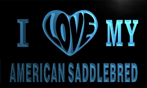 Va3222-B I Love My American Saddlebred Horse Neon Light Sign