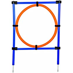 Trixie 3208 Dog Activity Agility Ring, 115 × ø 3 cm, ø 65 cm, orange/blau