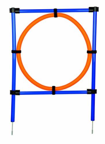 Artikelbild: Trixie 3208 Dog Activity Agility Ring, 115 × ø 3 cm, ø 65 cm, orange/blau