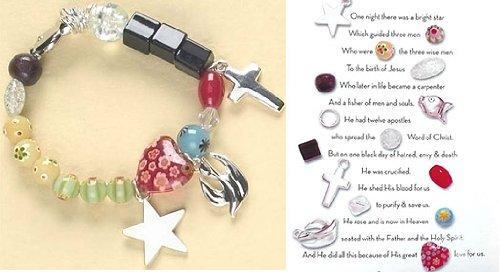 Pack of 6 Religious Glass Beaded Christ's Story Bracelets