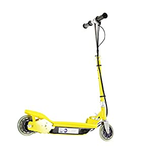Airwave Electric Scooter, Ride on Electric Scooter, E-Scooter, Modern Design Footplate - Yellow