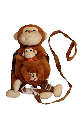 Child Safety Harness with Monkey Musical Toy - 1