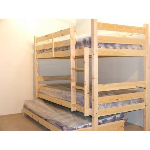 Bunk Bed with Guest Bed - 3ft Single bunkbed with pull out trundle - Can be used by adults