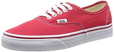 Vans Authentic Unisex-Erwachsene Sneakers, Rot (Red), 34.5