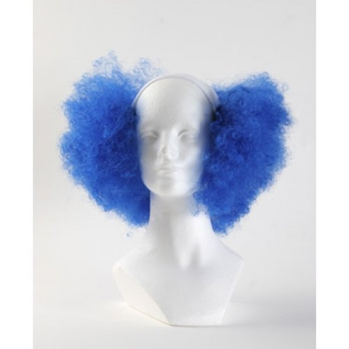 Bald Curly Clown Wig - Royal Blue