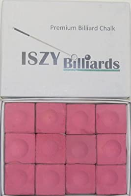 Premium Pool Table Billiard Cue Chalk 12 Pieces Pink