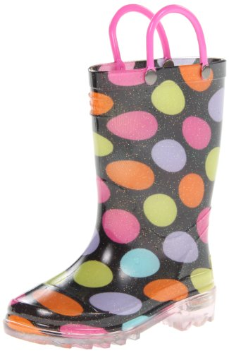 Western Chief Lighted Multi Dotty Rain Boot (Toddler/Little Kid),Multi,10 M Us Toddler front-955698