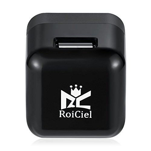 RoiCiel® USB急速充電器 cube型ACアダプタ 折りたたみ式 iPhoneSE/ 6s/6s Plus iPhone6/5s/5c/5, iPad Air/mini, Galaxy S5/S4/Note 3/2/Tab/Nexus, 他のスマートフォンやタブレット Wi-Fiルーターなどに対応(ブラック) (cube型5W出力1.0A 1ポート)