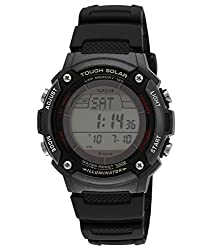 Casio Youth Digital Digital Black Dial Mens Watch - W-S200H-1BVDF (I088)