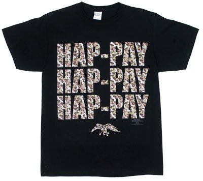 Camoflauge Hap-Pay - Duck Dynasty T-shirt: Adult 3XL - Black