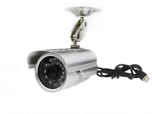 防犯カメラ(監視カメラ) マイクロSDカードに直接録画 赤外線LED24個内蔵 防水 -