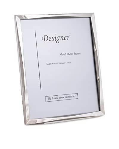 "Bey-Berk Silver-Tone 5"" x 7"" Picture Frame with Easel Back"